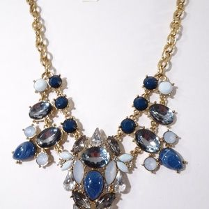 Ann taylor LOFT Midnight Crystal Necklace NWT 45